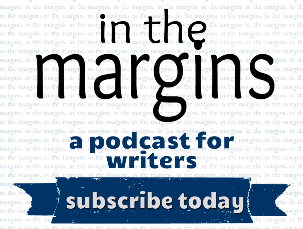 "Podcast cover art  Get inspired! Produced by tatestreeet.org, ""In the Margins"" is a biweekly dialogue with Abigail Browning and special guests about the creative process of writing, publishing, and the inside knowledge of the literary world.  Listeners of all skills, backgrounds, and interests are invited to share in the conversation with editors, writers, and creative minds.   Tate Street is an organization that follows and decodes writing trends in the literary industry. Visit us online at tatestreeet.org for interviews, writing and publishing advice, news content, and book reviews."